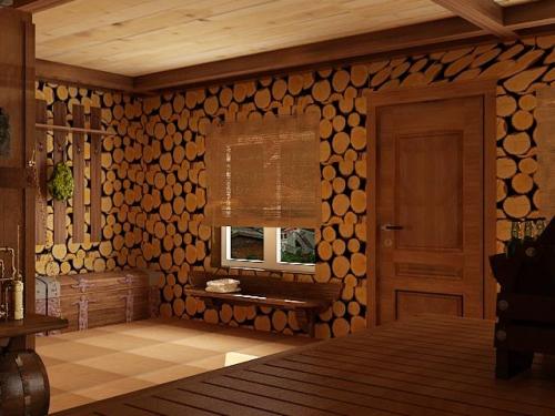 Стена из спилов дерева как сделать - Mmrr.ru